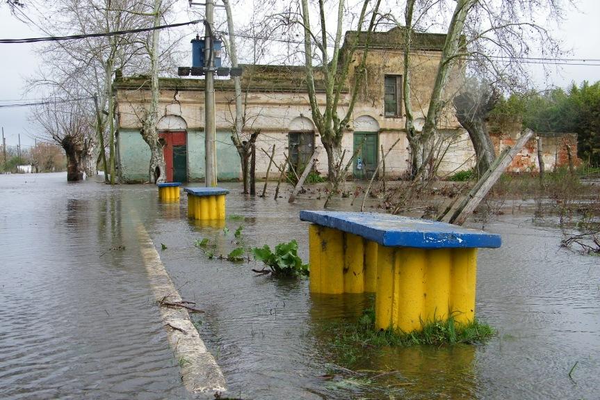 Inundación en 2010 en 25 de Agosto. Foto: Archivo FD.