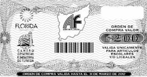 Uno de los vouchers entregados en campañas anteriores.