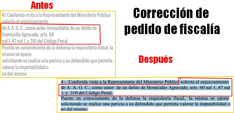 Poder Judicial cambio redacción de fallo inicial deMarisel