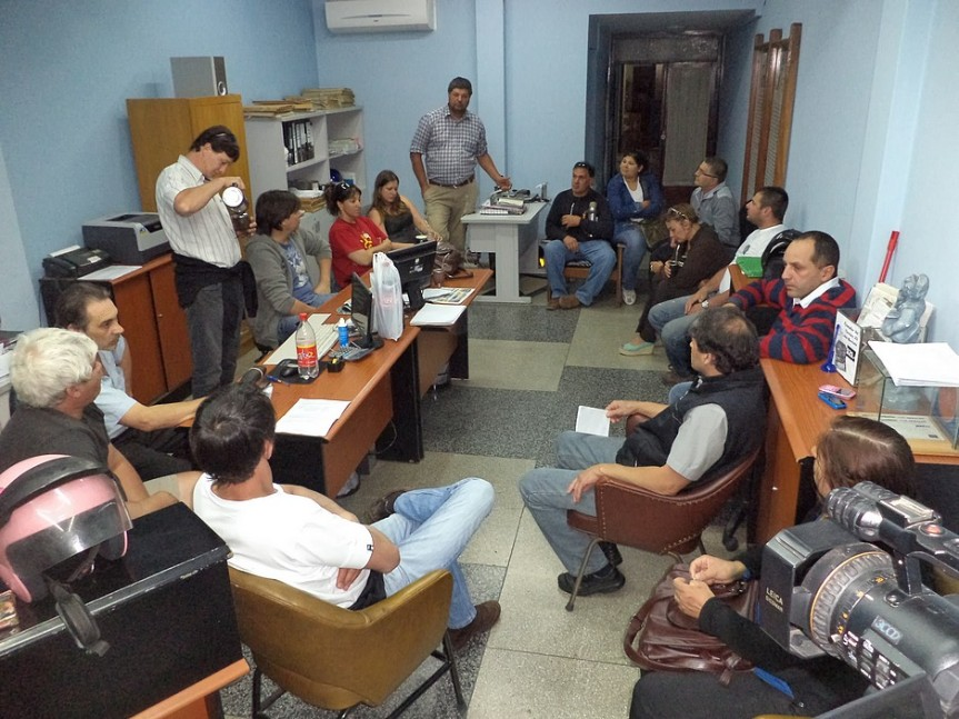 Mesa Intersindical sesionó junto a trabajadores de diario ElHeraldo