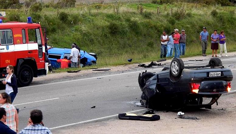 La imagen del accidente donde murió la funcionaria policial. Archivo FD.