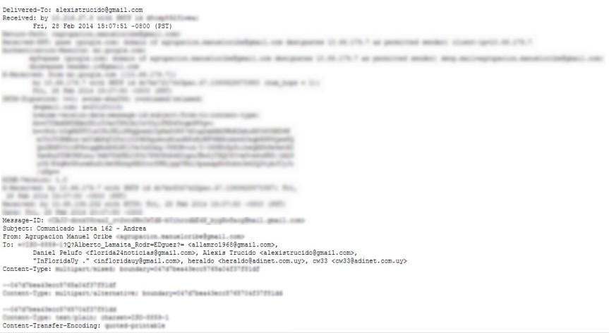 Investigan correo electrónico que anunciaba adhesión de Heber conBrugman