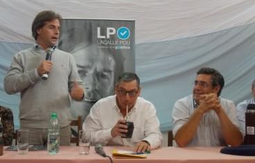 Lacalle Pou en oportunidad de la campaña electoral. Foto: archivo FD