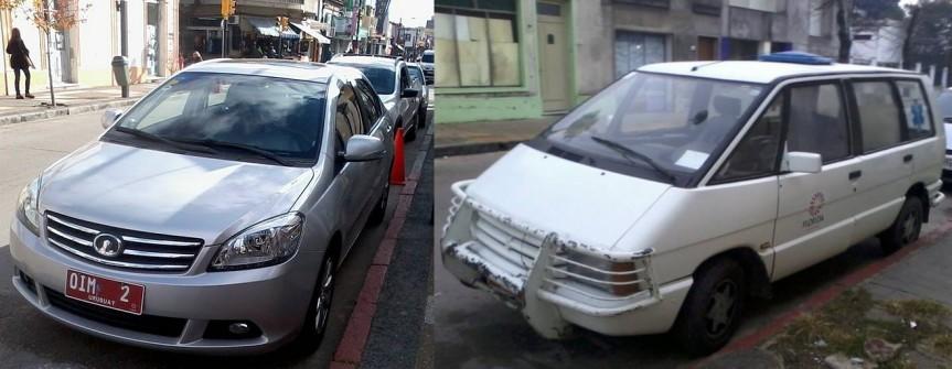 Comparando: Adeom comparó los nuevos coches y la ambulancia.