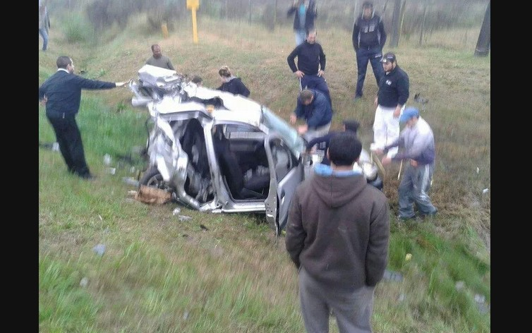 Un muerto y cinco heridos en ruta 5: chocó ómnibus ycamioneta