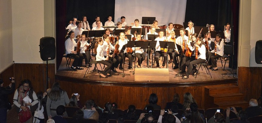 Núcleo Sinfónico brilló en SarandíGrande