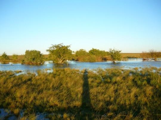 Imagen del arroyo desbordado, tomada por un turista. Fuente: Google Earth.