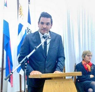 """Stopingi, el alcalde más joven del país dijo que trabajará """"con el patriotismo de Sarandí Grande"""""""