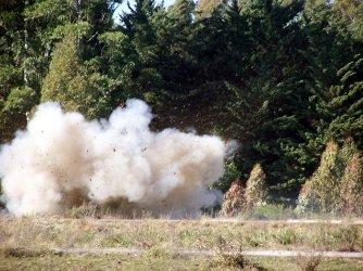 Prueba de explosivo en la Pesma. Foto: archivo FD