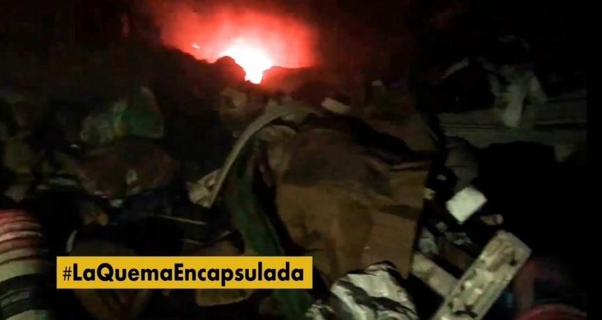 La quema encapsulada: vecinos denuncian que la intendencia quema basura en predio parapoda