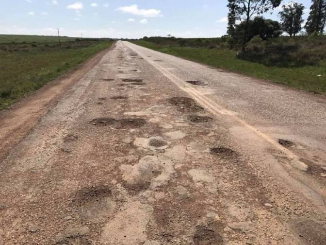 Ruta 7: desastrosa, destrozada y reclamada