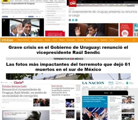 La renuncia de Sendic en la prensa internacional