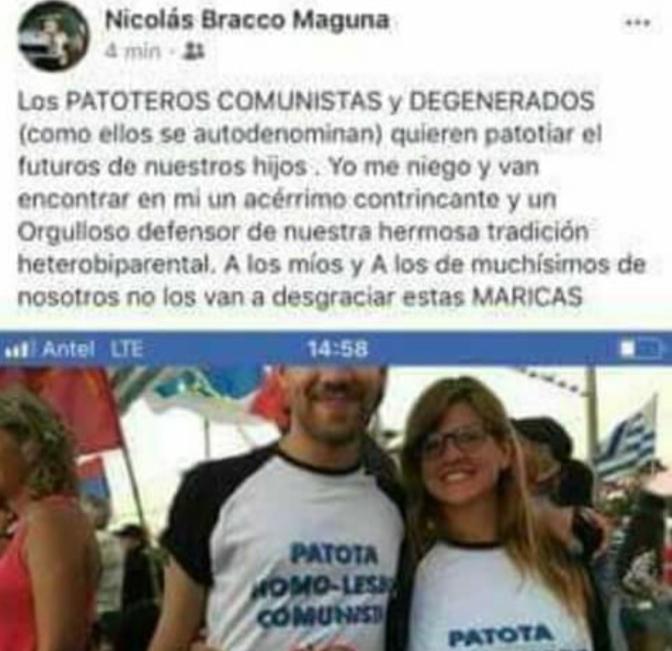"""""""HERMOSA TRADICIÓN HETEROBIPARENTAL"""" (sic)"""