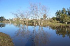 Otro rincón de la rambla junto al río en Florida.