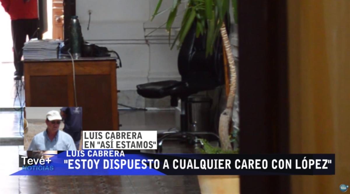 """Cabrera responsabilizó a Corujo, López y Enciso: """"Estoy dispuesto a cualquier careo"""", anunció"""
