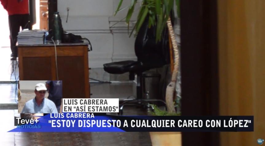 """Cabrera responsabilizó a Corujo, López y Enciso: """"Estoy dispuesto a cualquier careo"""",anunció"""