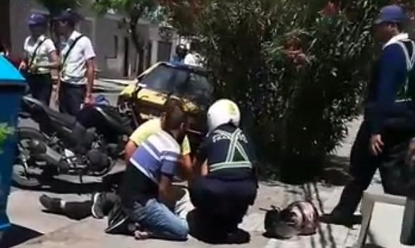 Chumbera en mano agredieron a inspectora de Tránsito enFlorida